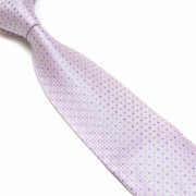 """Light Pink/Purple Square Patterned Microfibre Tie"""