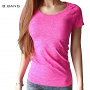 B.BANG Women Professional Shirt for Fitness Running Sports T shirt Short-sleeved Quick Drying Tees Jogging Exercises Woman Tops