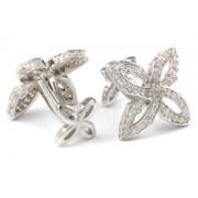 Mousie Bean Crystal Cufflinks Gothic Flower 151 White