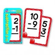 """Subtraction Pocket Flash Cards, 3-1/8""""x5-1/4"""", 56CDs, Ast, Sold as 1 Box"""