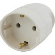 Földelt csatlakozó dugalj Műanyag Fehér 130.2083 - Scame
