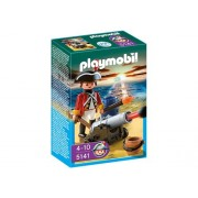 Playmobil Red Coat Guard with Cannon, Multi Color