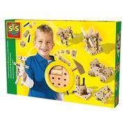 SES- Creative 00945 - Set costruzioni in legno
