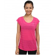 Nike Dri-FITtrade Cool Breeze Short Sleeve Top Vivid PinkReflective Silver