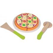 New Classic Toys 0587 - Set de pizza y accesorios de madera
