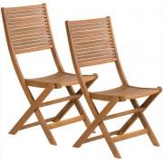 Kerti szék összecsukható 2 dbcsomag akácfából FDZN 4012