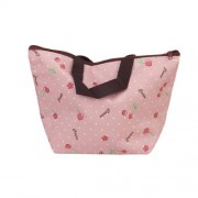 SODIAL(R) Lunch Box Bag Tote Insulated Cooler Carry Bag for Travel Picnic - Cherry Pattern