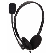 "Casti clasice cu microfon, control volum, Black Gembird ""MHS-123"""