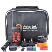 Aetertek 215C Waterproof Two Pet Dog E-collar Shock Collar Training System Stop Bark Tool 550M Remote Range Easy to use