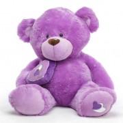 Purple 5 Feet Big Teddy Bear with a heart