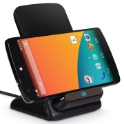 Qi Wireless Charger Dock & Stand (3-Coils) for LG Google Nexus 5