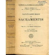 Tractatus Canonico Moralis De Sacramentis Vol Ii - Pars Iii De Sacra Ordinatione Accedit Appendix De Iure Orientalium