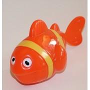 Agglo Beach Fun Orange Wind Up Clown Fish Beach Bathtub Toy