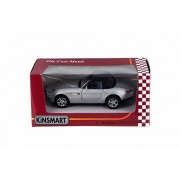 BMW Z8 Soft Top & Open Top Convertible, Silver - Kinsmart 5022/2WSV - 1/36 Scale Diecast Model Toy Car
