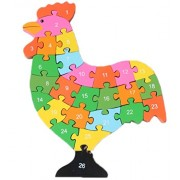 Smile Baby YKK juguete 3d de puzzles de madera de construcción construcción Madera Puzzle multicolor Hahn Talla:Größe:28.5cm*21cm