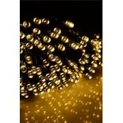 Karácsonyi LED fényfüzér zöld vezetékes 13m meleg fehér