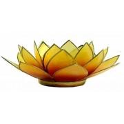 Regnbågsvävar Lotusblomma för värmeljus, gul-orange