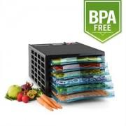 Klarstein uscator de fructe sacadat Pro 6 deshidratant mașină deshidratant uscator de 630W 6 etaje fara BPA (DHY5-FruitJerky6)