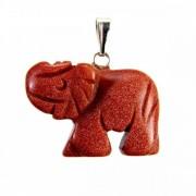 Barna napkő elefánt medál
