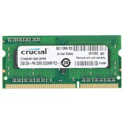 Crucial CT25664BF160BJ Memoria da 2 GB, DDR3L, 1600 MT/s, PC3L-12800, 204-Pin