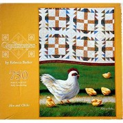 Quiltscapes 750 Pieces Puzzle Hen and Chicks