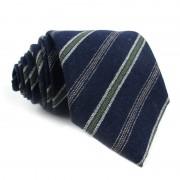 Cravatta lana seta a righe MOSCHINO