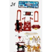 Knights & Armor Playset (6 Knights, Weapons, 2 Horses Cannon Or Catapult) (Bagged) Playsets