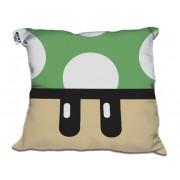 Almofada Decorativa Cogumelo Verde +1 UP do Mário