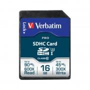 Card Verbatim SDHC Pro 16GB Clasa 10 UHS-I U3
