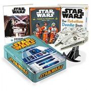 Star Wars R2D2 Tin With Millennium Falcon Model Book Set