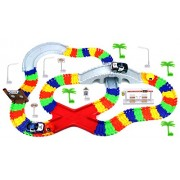 Create A Road 'High Speed Chase' Police Series 142 Piece Toy Car & Flexible Track Playset w/ 2 Toy Cars, Accessories