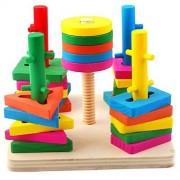 Happy Cherry Hape Early Explorer Geometric Sorter Toy