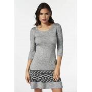 JustFab Knee Length Fit And Jeans évasés Sweater Dress Femme Couleur Gris Taille XS JustFab