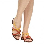 Shoestock Rasteira Shoestock Tiras Finas Multicolor - Feminino