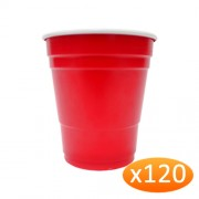 """American Red Plastic Party Cups - 285ml Minis (120 Pack)"""
