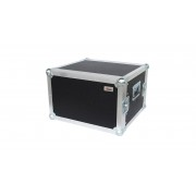 "AWEO 8 HE Rack 19"" Double Door 39 CM Flightcase 7 mm MPX"