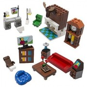 Brick Building Living Room Set for Your Dream House - 14 Build-Your-Own Furniture Pieces - Tight Fit with All Sets