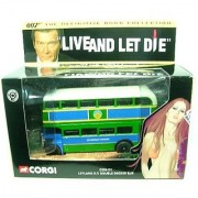 LEYLAND R.T. DOUBLE DECKER BUS LIVE AND LET DIE 2001 Corgi Classics 007 The Definitive James Bond Collection 1:36 Scale