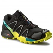 Обувки SALOMON - Speedcross 4 392398 28 V0 Black/Everglade/Sulphur Spring