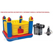 INTEX Inflatable Jump-O-Lene Ball Pit Castle Bouncer With Intex Electric Air Pump
