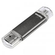 Stick USB HAMA Laeta Twin, 32GB, gri