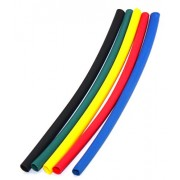 MA High Quality 3mm in 2 Mtr. Black Red Green Yellow Blue Polyolefin Assortment Ratio 2:1 Heat Shrink Tubing Tube Sleeving For Wrap