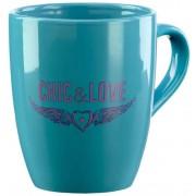 Taza Chic & Love Blue