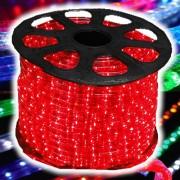 Mangueira Luminosa LÂMPADA Vermelho Corda Natal Pisca Rolo 100mt - 110v - 1055