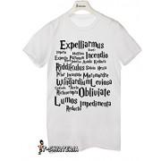 t-shirt Expelliarmus mujer, de desarme, Incendio, ridikulius imposición, libros de Harry Potter todas las by tshirteria Camiseta para mujer blanco