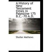 A History of New Testament Times in Palestine 175 B.C.-70 A.D. by Shailer Mathews