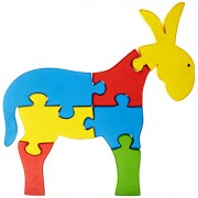Skillofun Wooden Take Apart Puzzle Large - Donkey, Multi Color