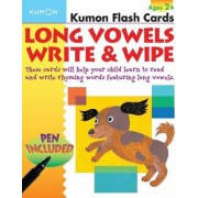 Long Vowels Write & Wipe! Flash Cards by Kumon Publishing