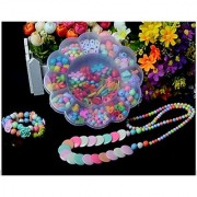 Shintop Colorful Acrylic Beads DIY Color Woven Bracelet Handmade Beaded Early Childhood Educational Toys for Children (Flower Shape)