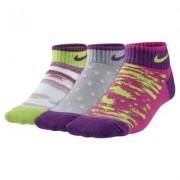 Nike Graphic Lightweight Cotton Low-Cut Kids' Socks (3 Pair)